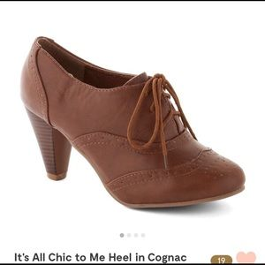 ModCloth It's All Chic to Me Heel in Cognac